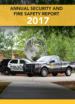 Cover of Annual Security and Fire Safety Report booklet